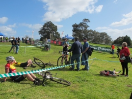 CXnats masters women's finish line - 'brutal' was the word