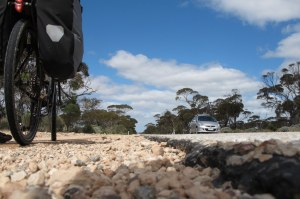Nullarbor road edge