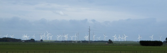 Wind generators reported a record during our ride; no surprise