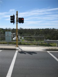 Turn left into a pole